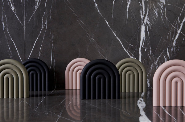 OYOY Living Design - OYOY LIVING Rainbow Bordskåner Coaster Sort