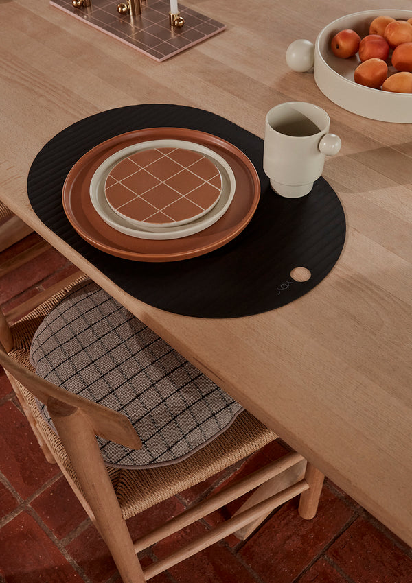 OYOY Living Design - OYOY LIVING Ribbo Dækkeserviet - 2 Stk Placemat Sort