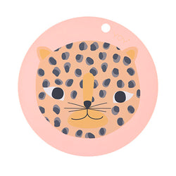 OYOY Living Design - OYOY MINI Snow Leopard Dækkeserviet Placemat Koral