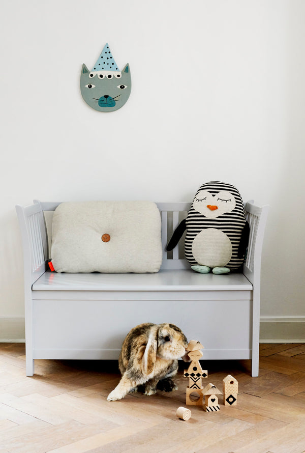 OYOY Living Design - OYOY MINI Pingvinen Pingo Pude Soft Toys Hvid / Sort