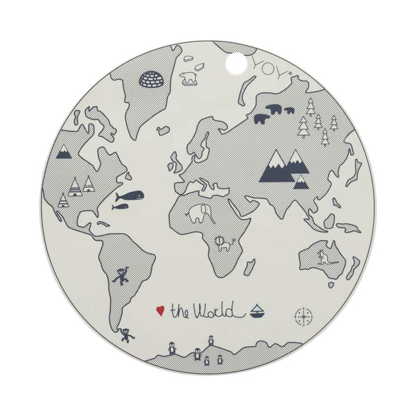 OYOY Living Design - OYOY MINI World Dækkeserviet Placemat Råhvid