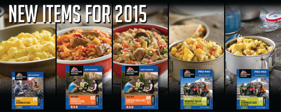 new freeze dried meals added to the Mountain House menu