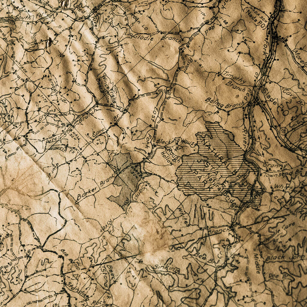 Map of Red River Gorge USA
