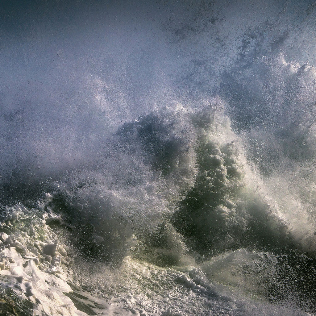 crashing stormy waves