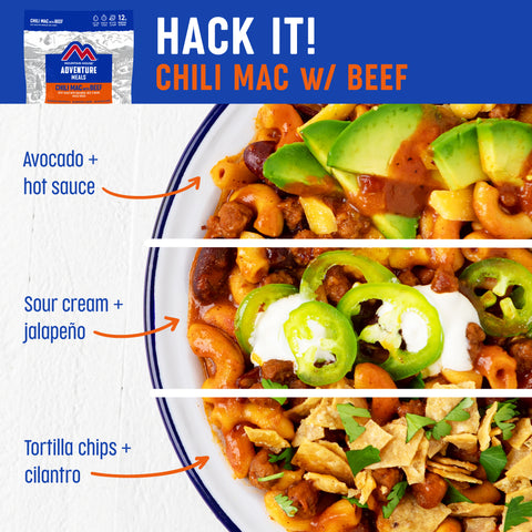 Chili mac with beef meal hack