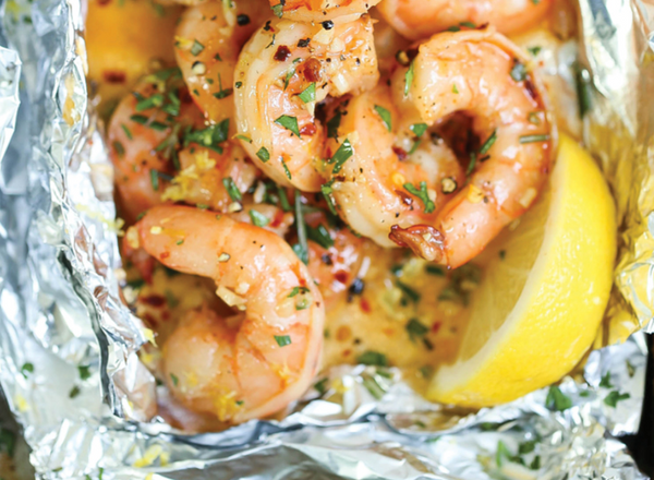 shrimp scampi foil packet