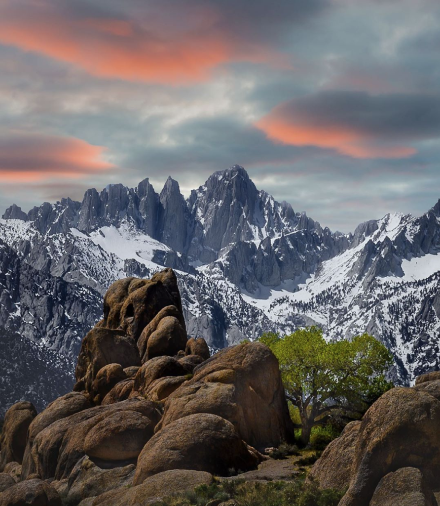 mount whitney covered in snow
