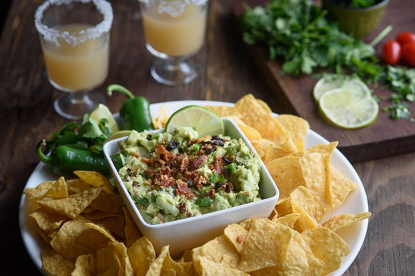 sun-dried tomato bacon guacamole
