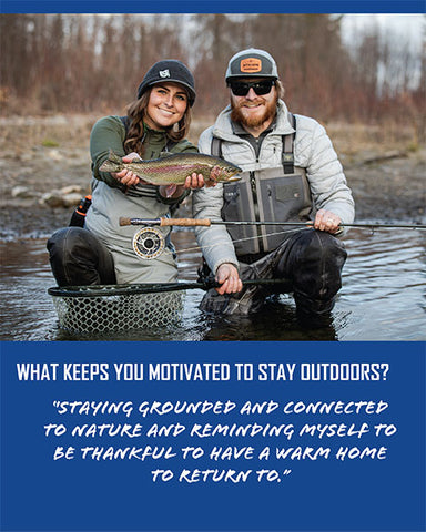 What keeps Mountain House Ambassador Tessa Shetter motivated to stay outdoors