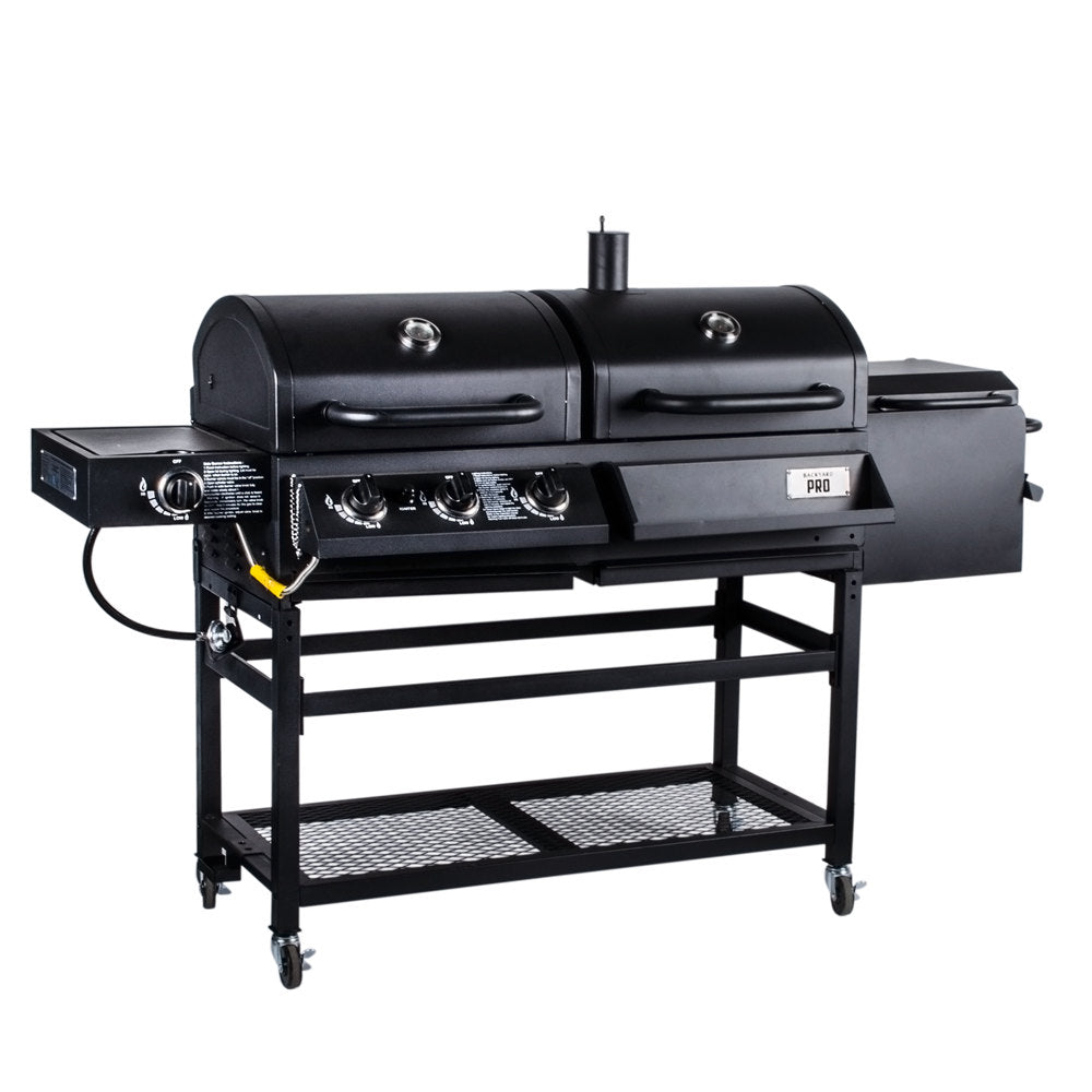 Backyard Pro Portable Outdoor Gas & Charcoal Grill/Smoker