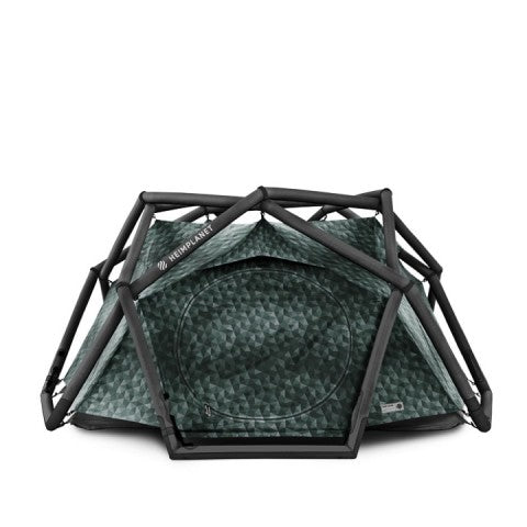 dark green inflatable cave tent