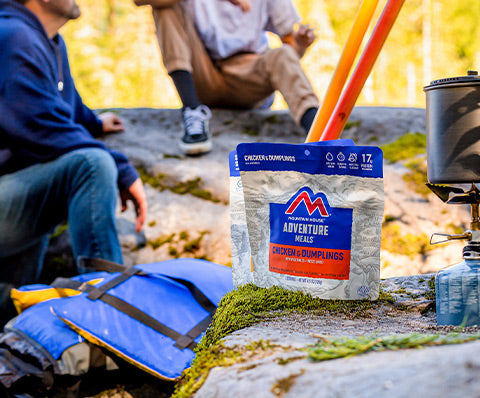 Freeze dried chicken and dumplings while backpacking