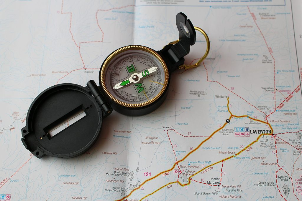Trail map & compass.