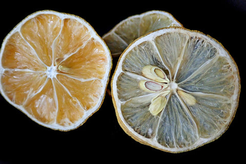 Dehydrated orange and lime slices.