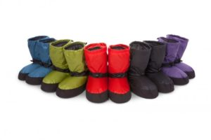 assorted down booties from feathered friends