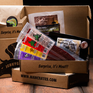 boxes of assorted jerky sticks