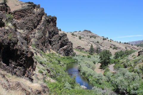 South Fork of John Day River view from ridge.