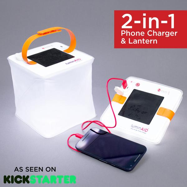two in one phone charger and lantern by luminaid