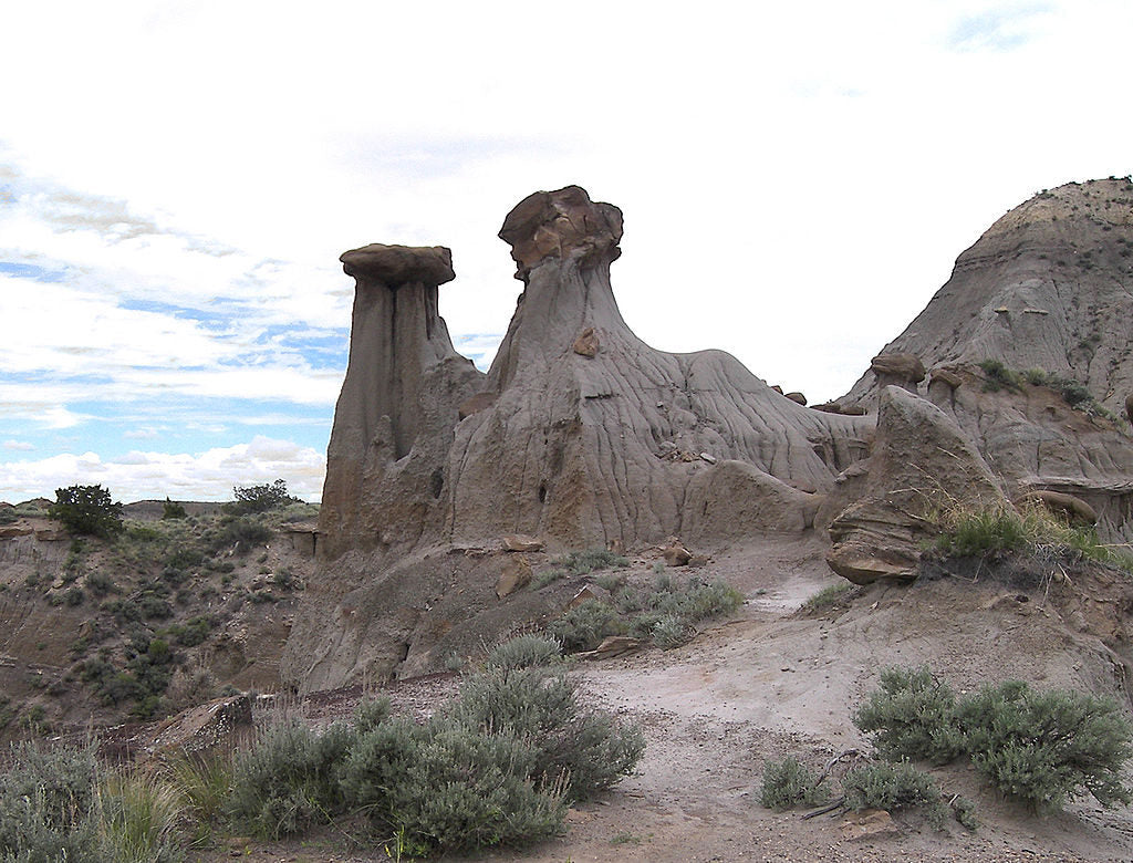 Rock formations at Makoshika State Park, Montana.