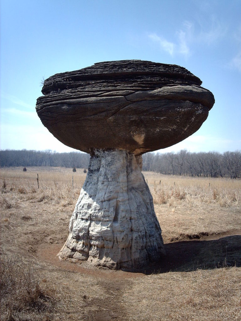 Mushroom Rock at Kansas State Park.