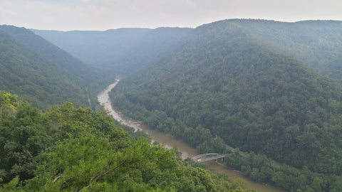 New River Gorge in West Virginia.