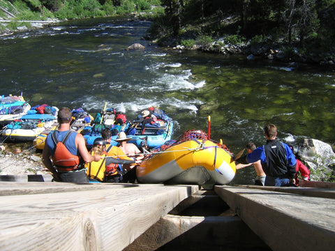 Rafters launch at Salmon River's Middle Fork in Idaho.