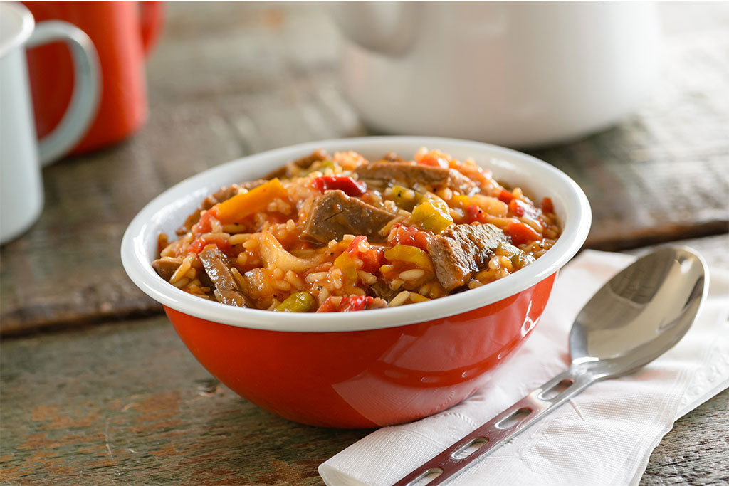 Italian Style Pepper Steak with Rice and Tomatoes - Pouch