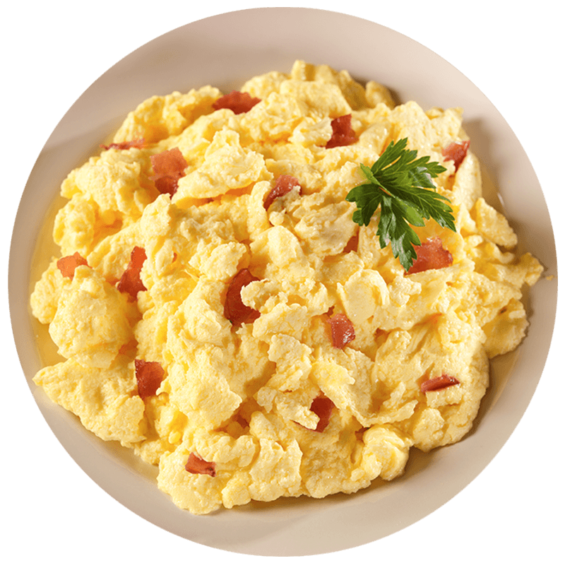 Scrambled Eggs with Bacon - MCW