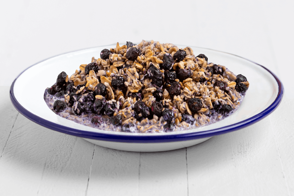 Granola with Milk and Blueberries - #10 Can