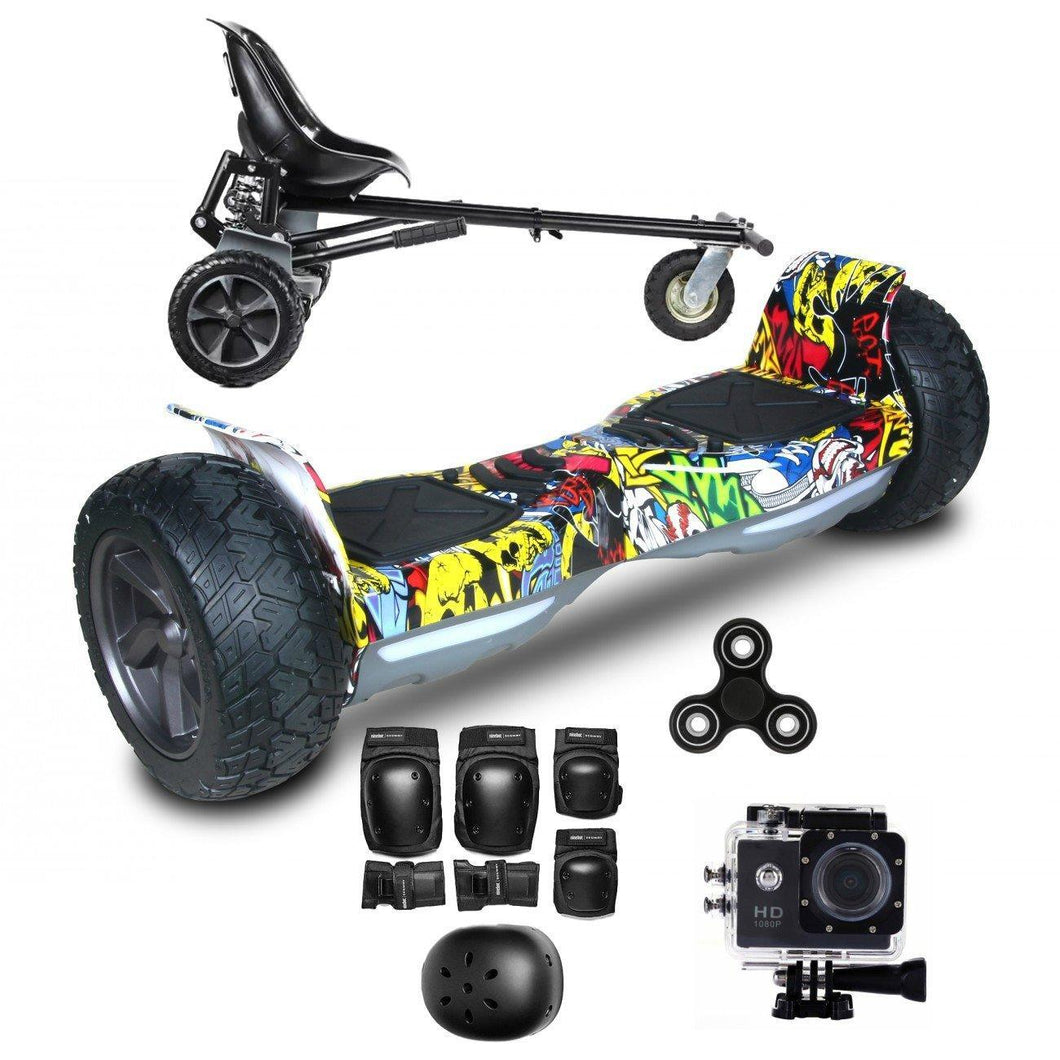 2018 Hummer Black Hoverboard Segway,  Hoverkart Bundle with App Control + Fidget Spinner in 20% Offer - Segwayfun