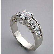 2.5 Carat Diamond Solitaire Ring With Accents