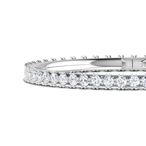 5.20 Ct prong set white round diamond tennis bracelet solid gold 14k