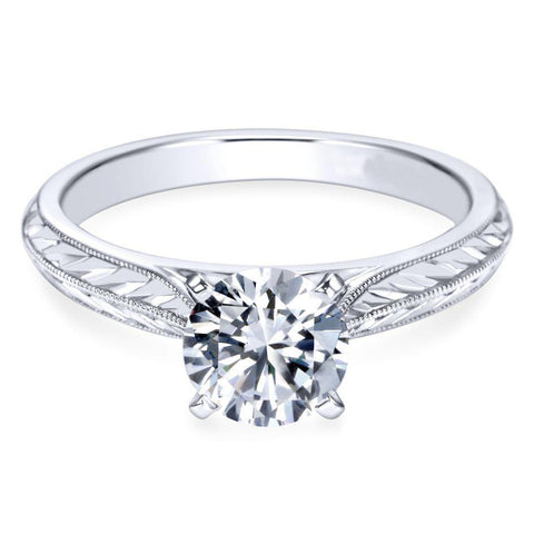 2.75 Ct Solitaire F Vs1 Round Cut Diamond Engagement Ring White Gold