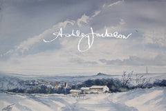 Meltham in the snow - The landmarks of our lives