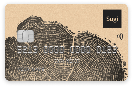 Sugi NFC Wallet Card, mobile-first cryptocurrency hardware wallet