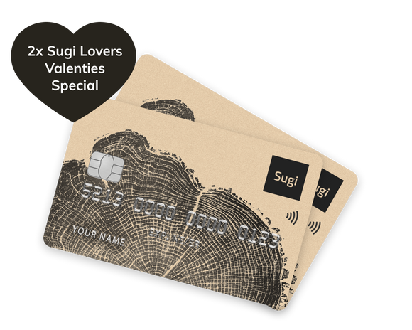 Sugi Card - Valentine's day 2 for 1
