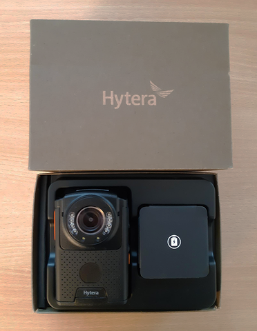Hytera VM550D Body Camera Box Contents