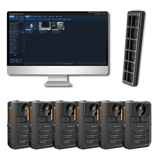 Hytera VM550 Complete BodyCam Kit (6 users) Incl. SmartMDM Software Bundles Hytera - BodyCamera.co.uk - Body Worn Security Systems