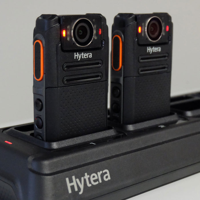 Hytera MCA22 Body Worn Camera VM550 & VM685 Six way Multi Charger  Hytera - BodyCamera.co.uk - Body Worn Security Systems