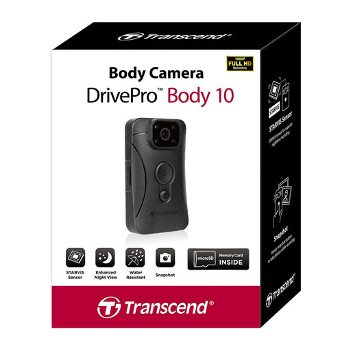 Transcend DrivePro 10B Body Camera 32GB Body Worn Camera Transcend - BodyCamera.co.uk - Body Worn Security Systems