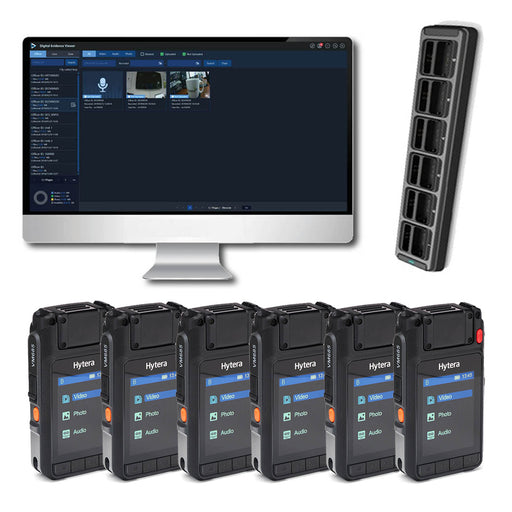 Hytera VM685 Complete BodyCam Kit (6 users) Incl. SmartMDM Software Bundles Hytera - BodyCamera.co.uk - Body Worn Security Systems
