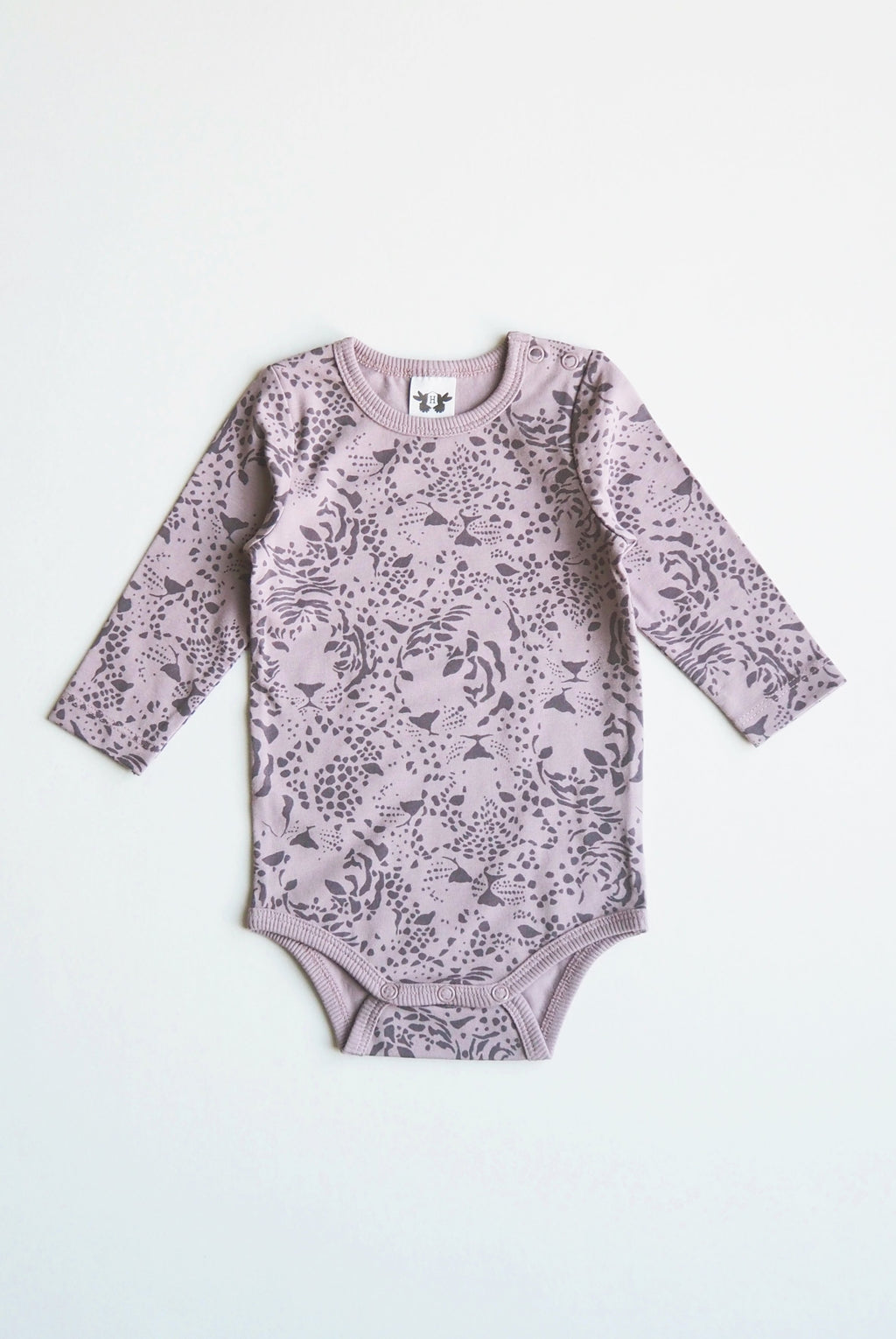 CLEO body i ekologisk bomull- print purple rose