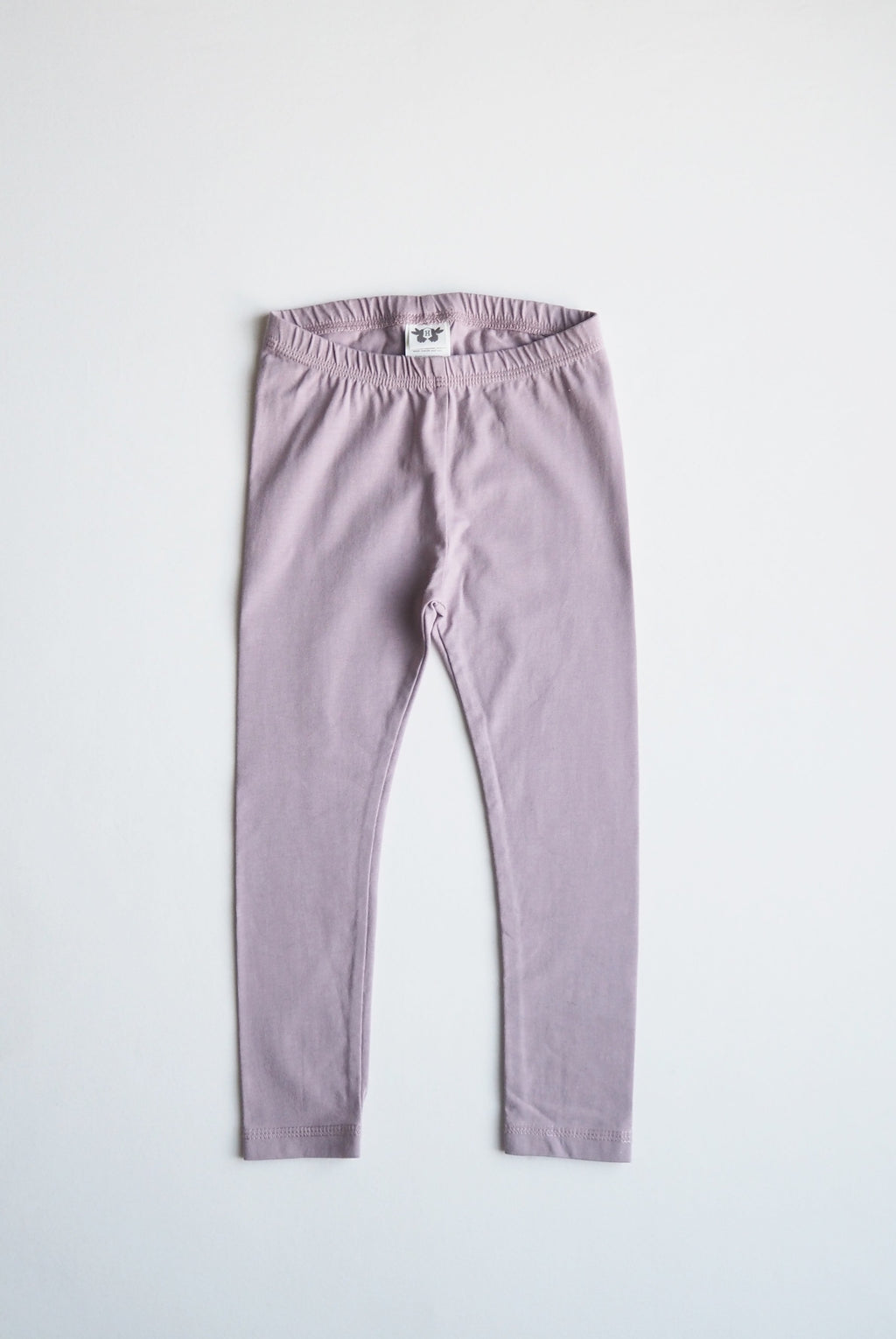 LEON leggings i ekologisk bomull - solid purple rose