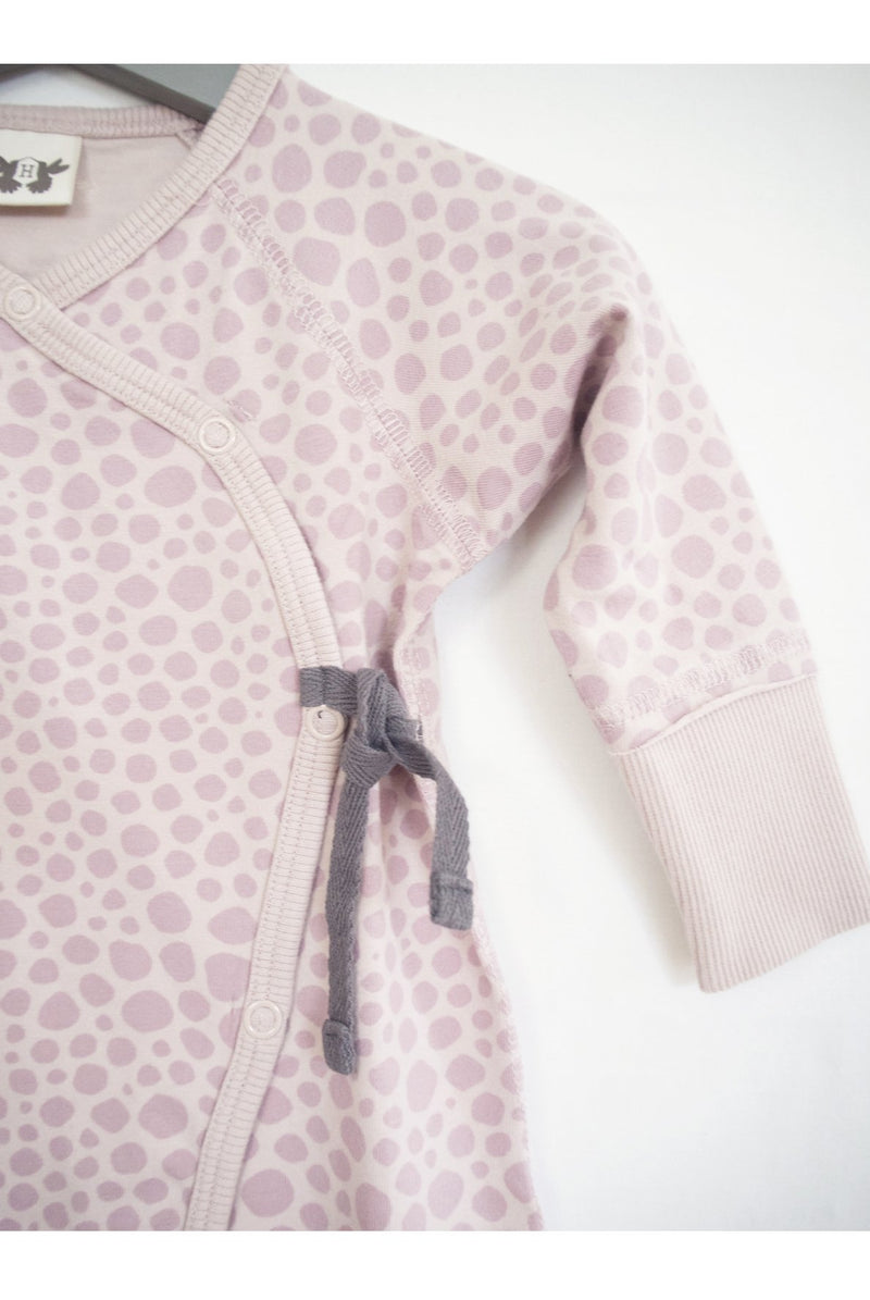 LOVE playsuit printed dusky pink