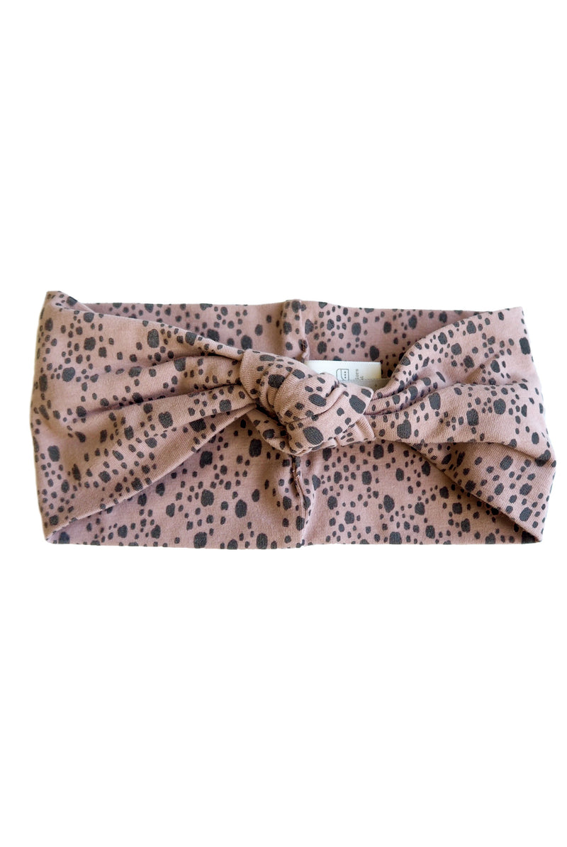 MINNA hairband - print Old pink