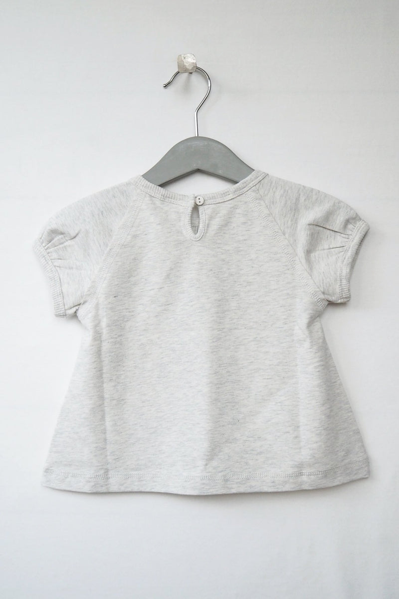 ELSA short sleeve top- light grey
