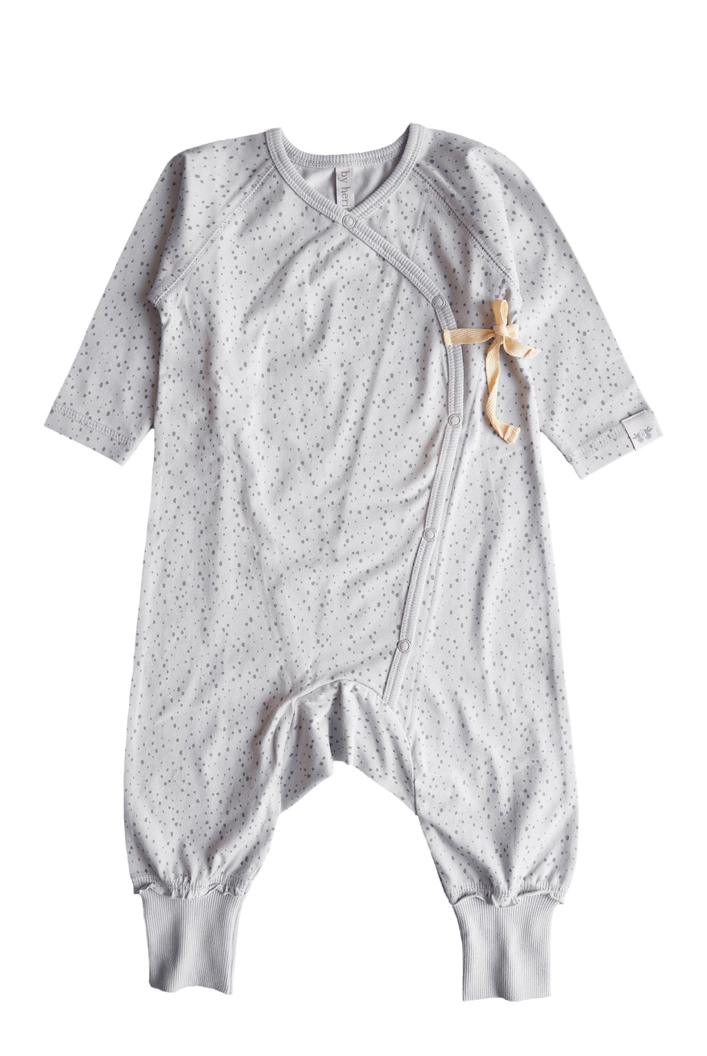 LOVE Onesie i ekologisk bomull - Print light Grey