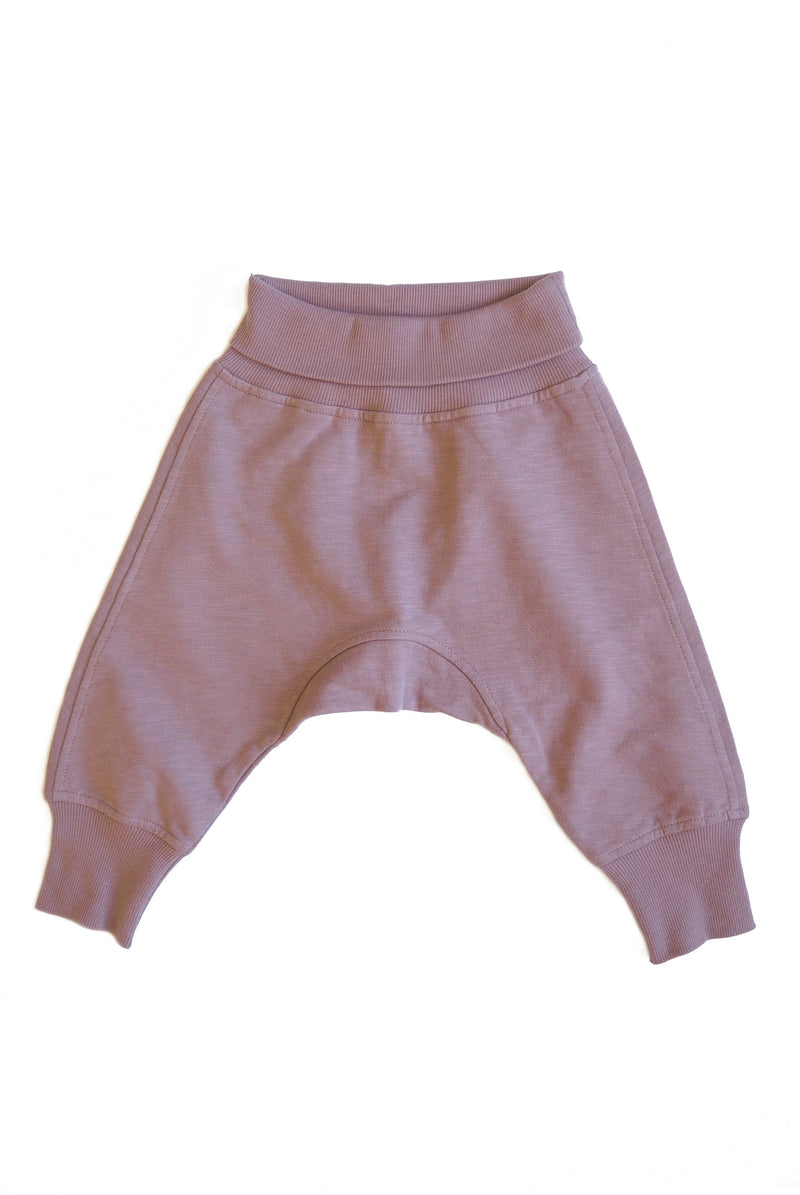 MAX baggy trousers i ekologisk bomull - Dark Old Pink