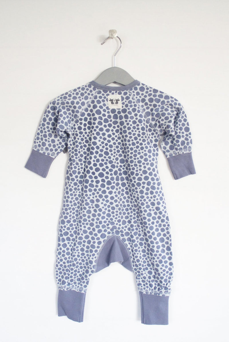 LOVE playsuit printed soft indigo blue