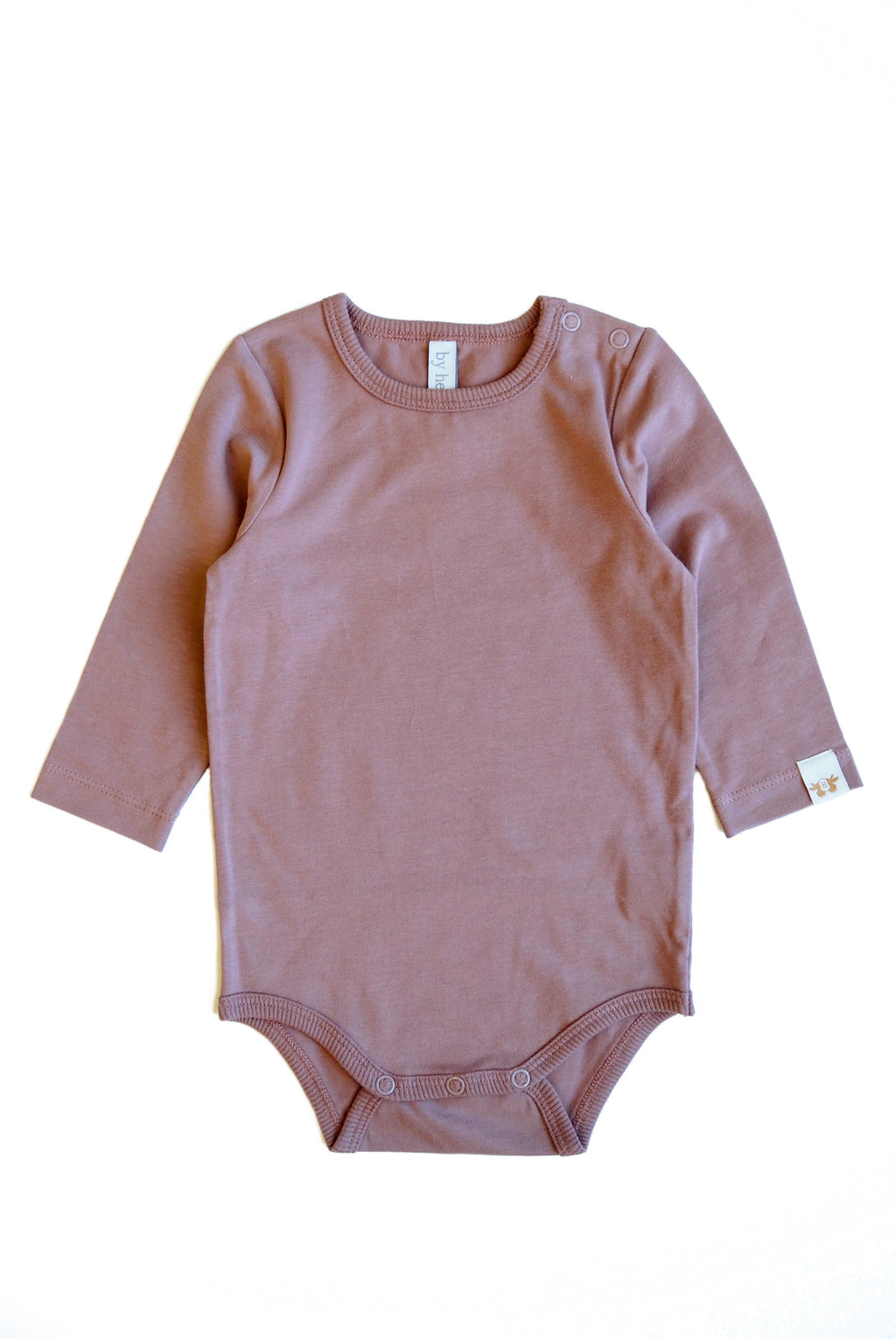 CLEO body i ekologisk bomull- solid Dark old pink